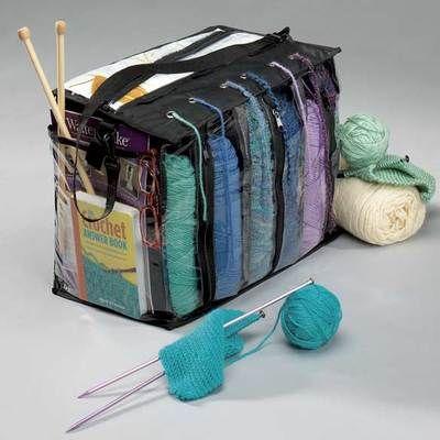 Woolen Yarn Storage Bag Organizer Crochet Knitting Holder Crochet Travel Tote