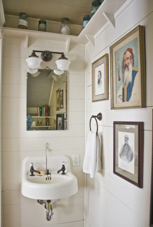 Design Sponge Bathrooms Extraordinary Erin Napier Of Laurel Mississippi  Home  Pinterest  Small Sink Inspiration