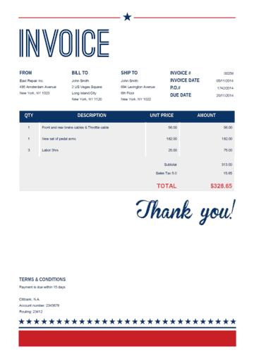 Us Vegas Invoice Template Receipt Template Invoice Template Word