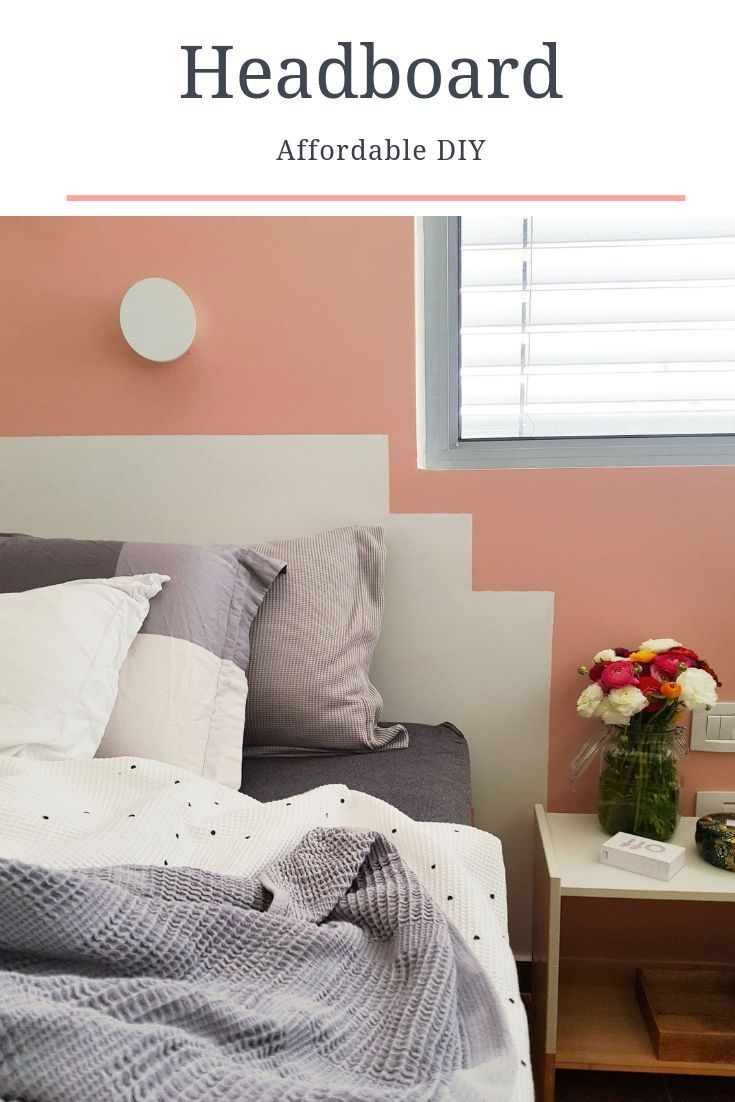 Accent wall and DIY Headboard  Cheap Bedroom Makeover