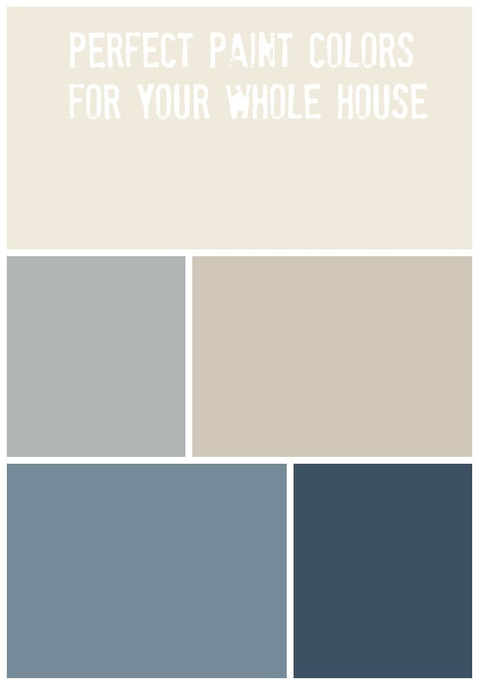Whole House Paint Palette. Neutral Paint ColorsBlue ...