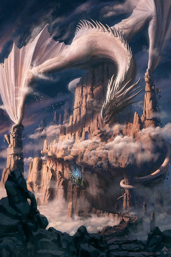 Dnd White Dragon: The Cloud Spires, And Sits An Ancient Dragon
