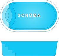 "Pool Shape sonoma pool shape size: 9'x17' depth: 4'3"" flat - completely"