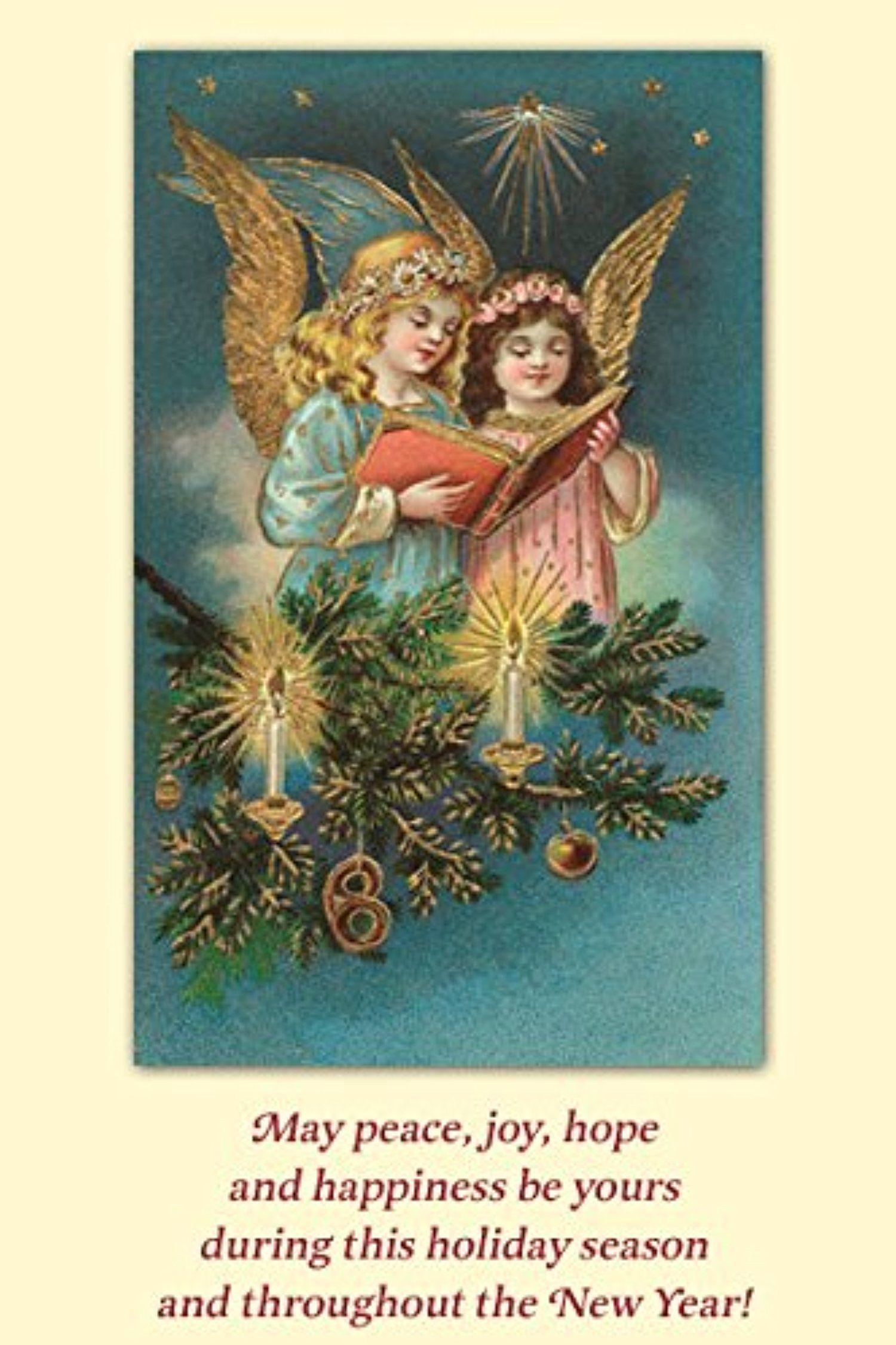 Old World Christmas Heavenly Choir Angels Boxed Set 10 Christmas ...