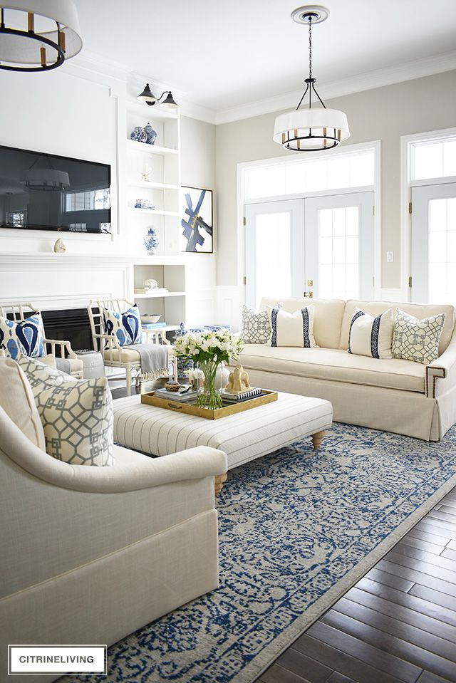 Casual Elegant Living Room: OUR LIVING ROOM REVEAL WITH NEW WHITE SOFAS FROM PERIGOLD