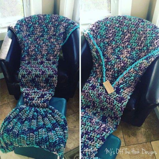 Crochet Mermaid Blanket Tutorial Youtube Video Diy Free