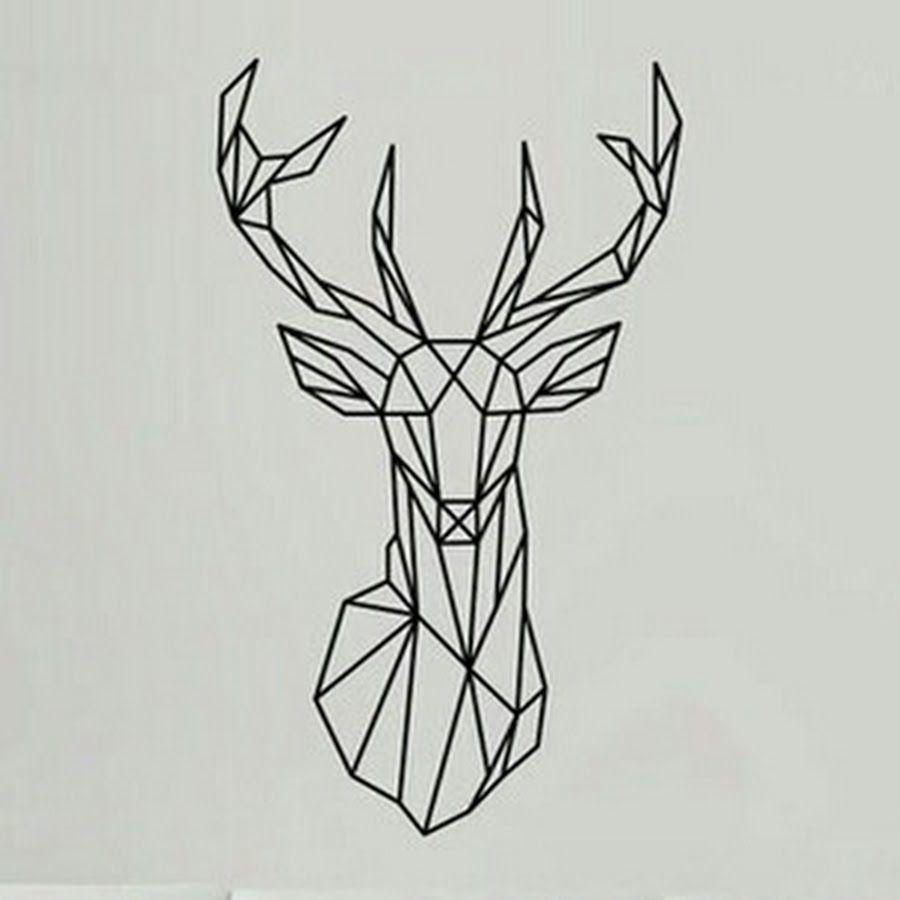geometric deer head tattoo design tattoo pinterest deer head rh pinterest ca deer head tattoo designs deer head tattoo meaning