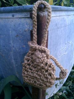This works up quickly, under an hour, and could be made from a variety of materials and hook sizes. Mens soap scrubby. Free pattern through Heidi Yates on Ravelry