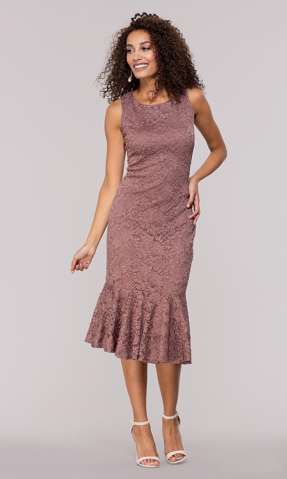 Knee Length Glitter Lace Wedding Guest Dress Wedding Guest Dress Dresses Beautiful Party Dresses [ 1666 x 1000 Pixel ]