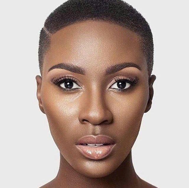Natural makeup for black skin