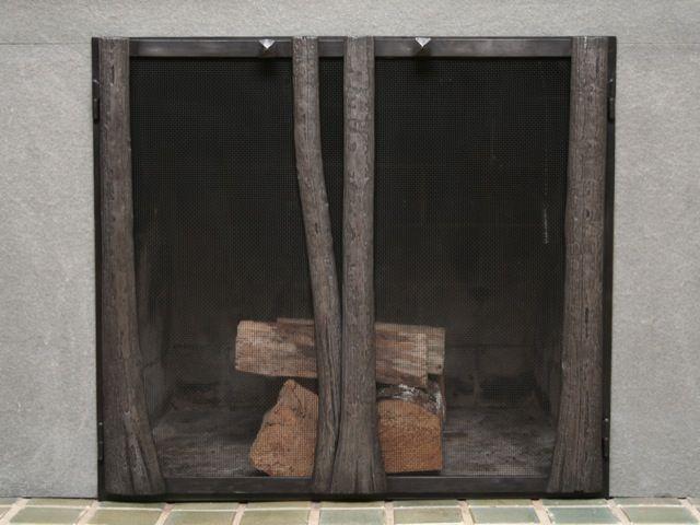 Best Douglas Fir Trunks Forged Fireplace Doors Maria 400 x 300