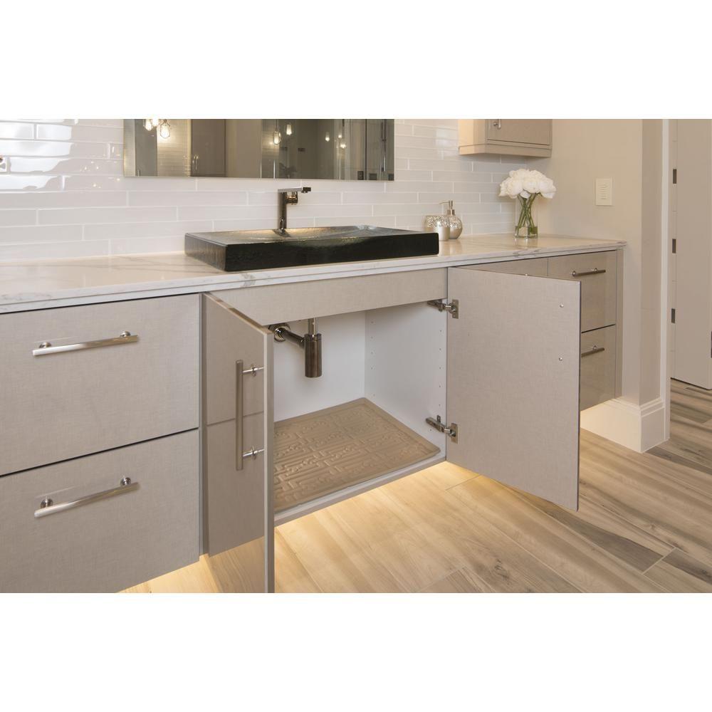 Home Garden Xtreme Mats Grey Bathroom Vanity Depth Under Sink Cabinet Mat Drip Tray Shelf X Kitchen Dining Bar