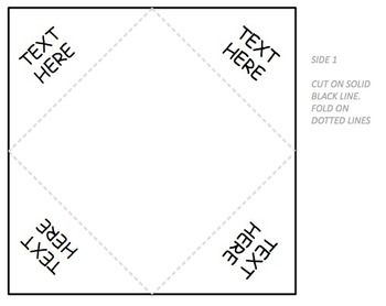 Foldable template template math and school foldable template fandeluxe Gallery