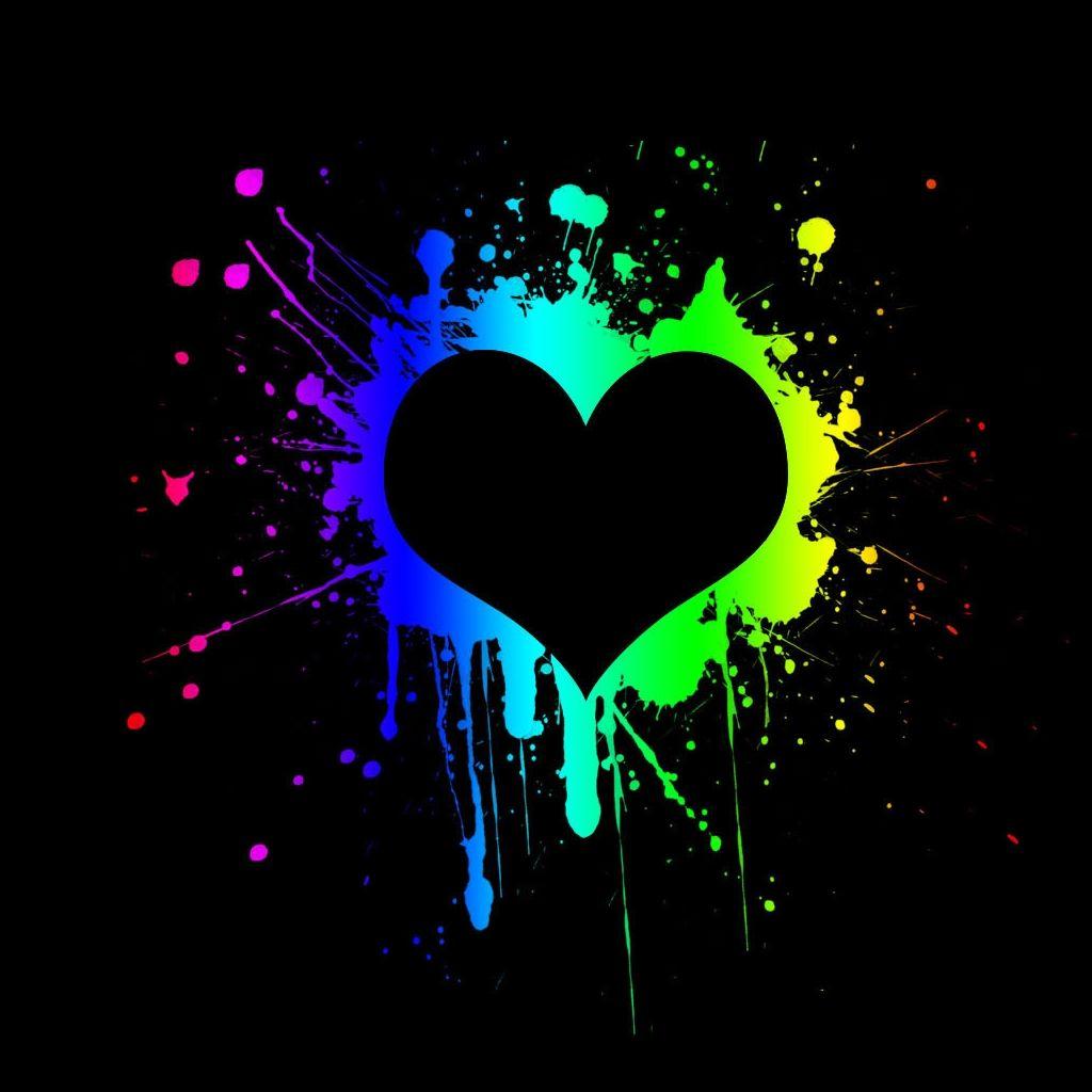 Purple Heart Wallpaper Purple And Black Hearts Wallpaper Black