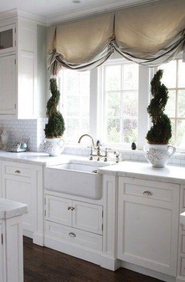 farmhouse kitchen white cabinets window treatments 26 ideas for 2 window treatments living on farmhouse kitchen window id=87664