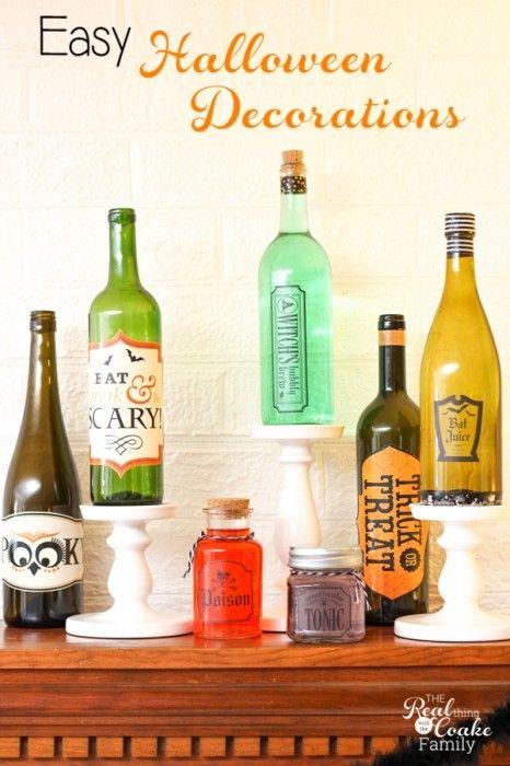 Wine Bottles Make Easy Halloween Crafts Cheap halloween - cute easy halloween decorations