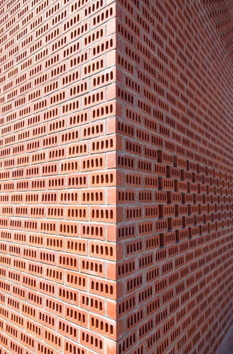 Yoda Architecture Pairs Perforated Brick With Corrugated Iron For A Rural French Home Decor10 Blog Brick Architecture Rural Architecture Brick Decor