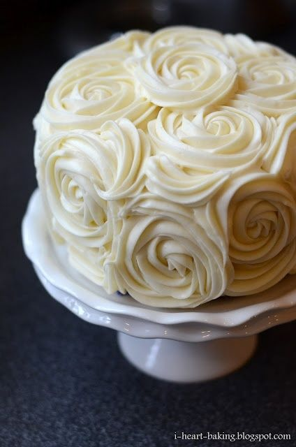 cream cheese roses.