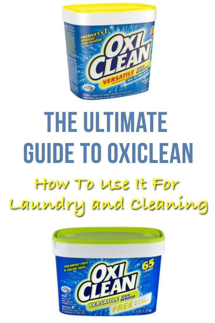 Oxi Clean Can Work Wonders And Not Just For Laundry Here