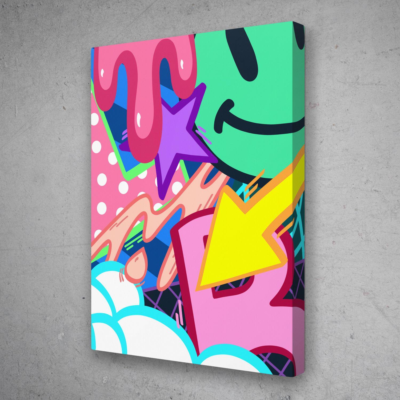 Graffiti Blast Street Art Cartoon Pop Art Canvas Wall Art Pop Art Canvas Graffiti Canvas Art Diy Canvas Art Painting