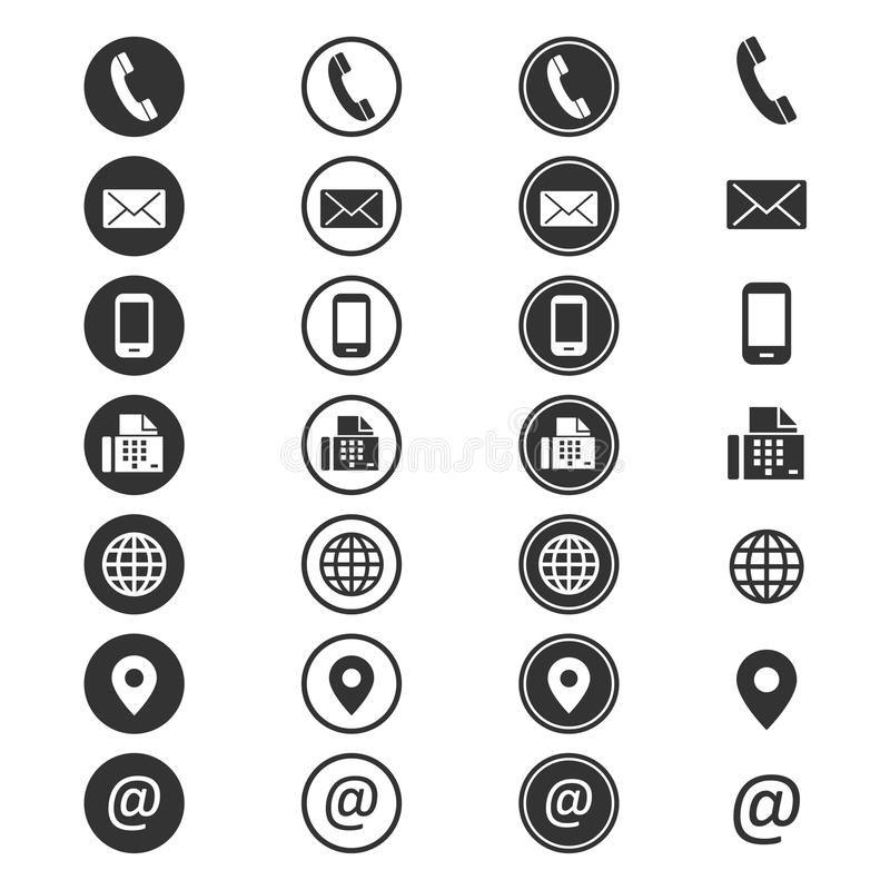 السيرة الذاتية الاتصالات رمز العنصر Resume Icons Png Icons Contact Icons Vector
