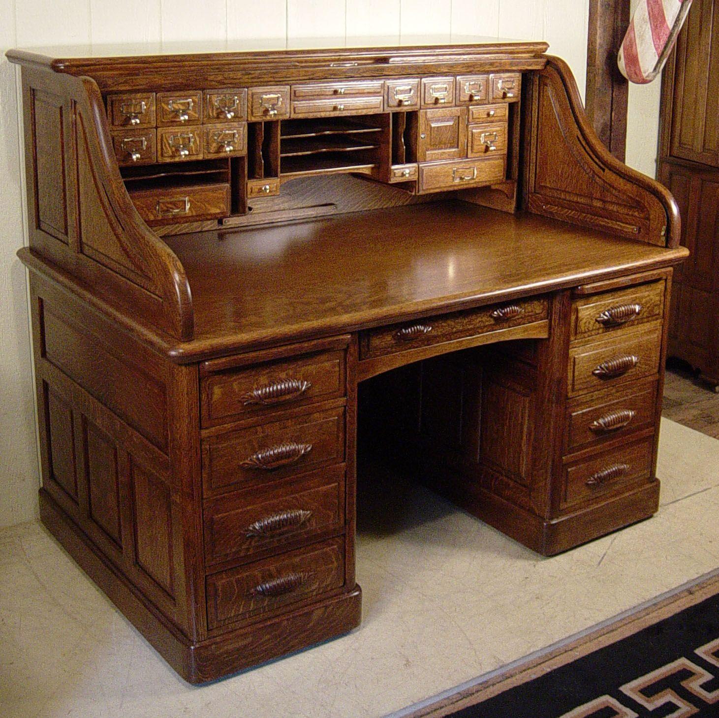 60 Oak Raised Panel S Roll Top Desk Roll Top Desk Masculine Home Offices Desk