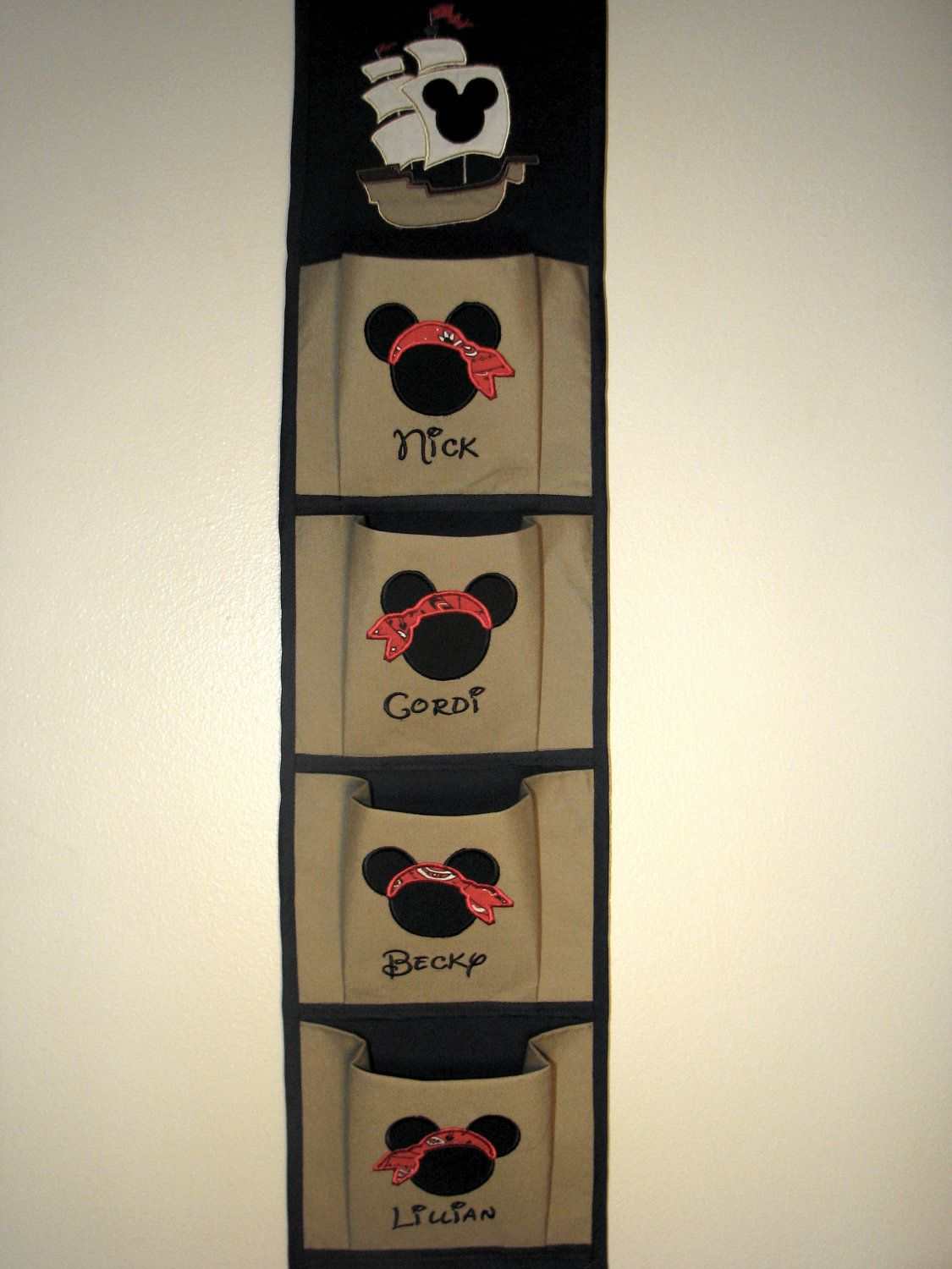 Custom Pirate Disney 4 Pocket Fish Extender by FairyTaleEmbroidery, $48.95