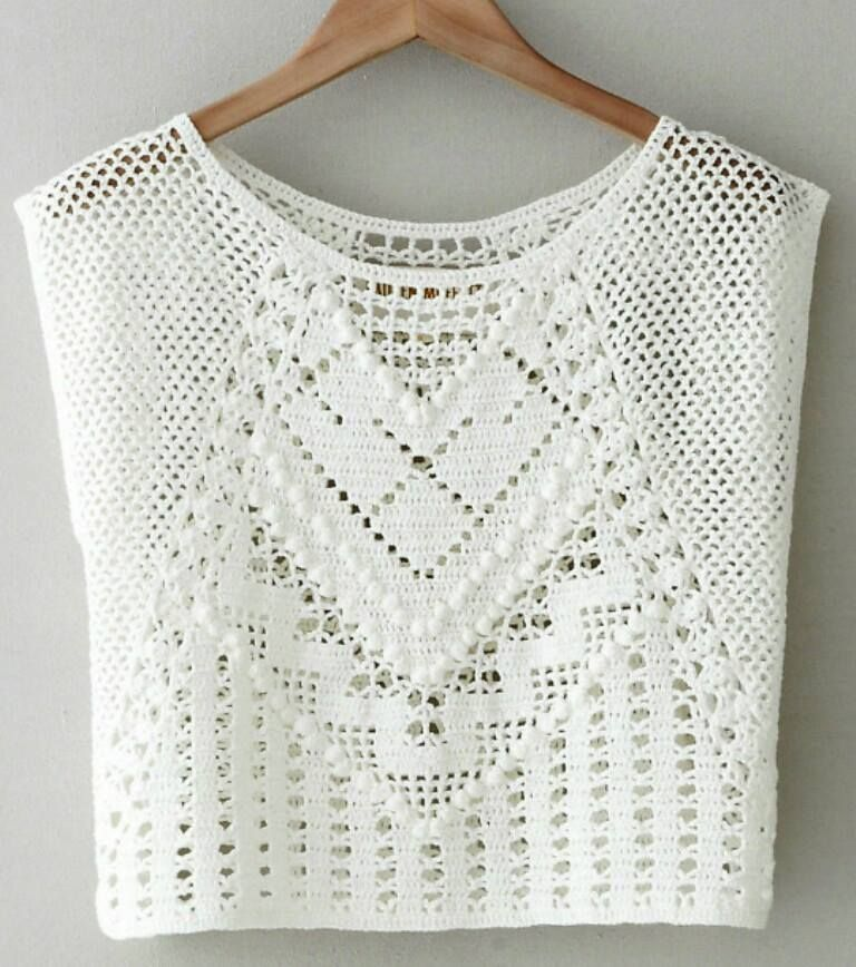 Pin de jasmine en Crochet Patterns | Pinterest | Blusas, Tejido y ...