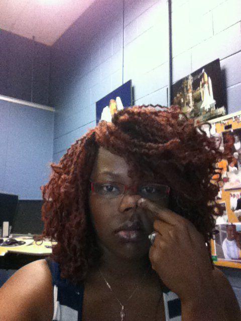 Hair Throwback...me circa 2011...rough day at work!