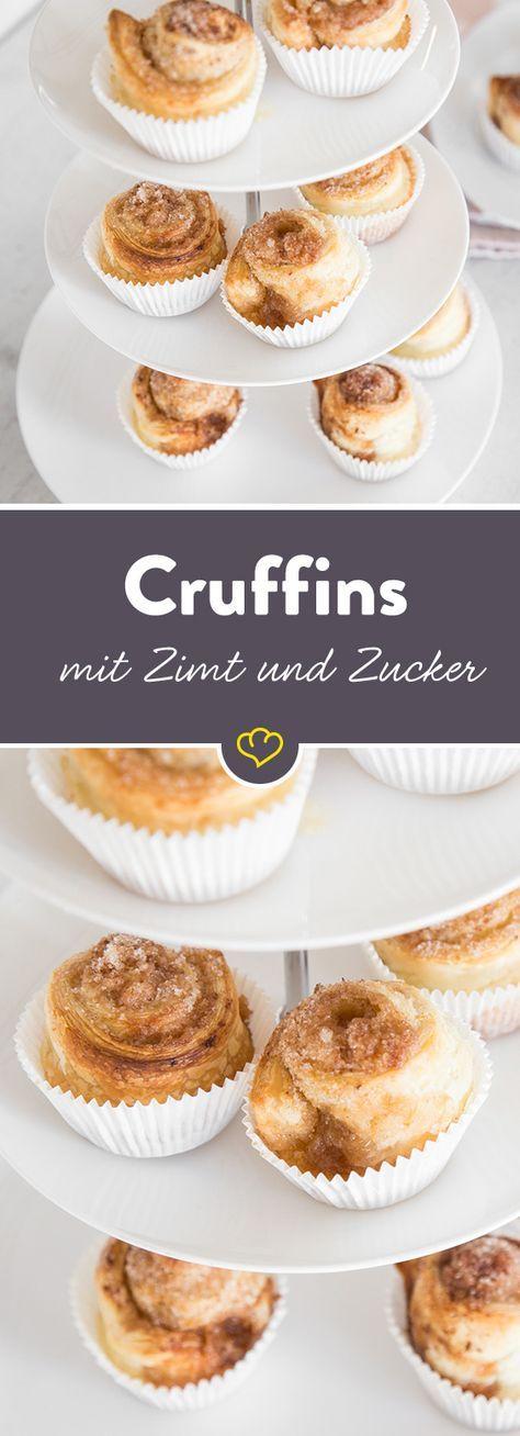 Cruffins mit Zimt und Zucker: Guten-Morgen-Muffins #frühstückundbrunch