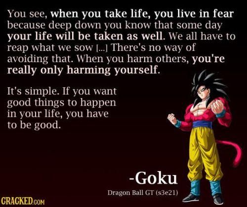 Goku Quotes Goku quotes | Goku | Goku quotes, Dragon ball, Goku Goku Quotes