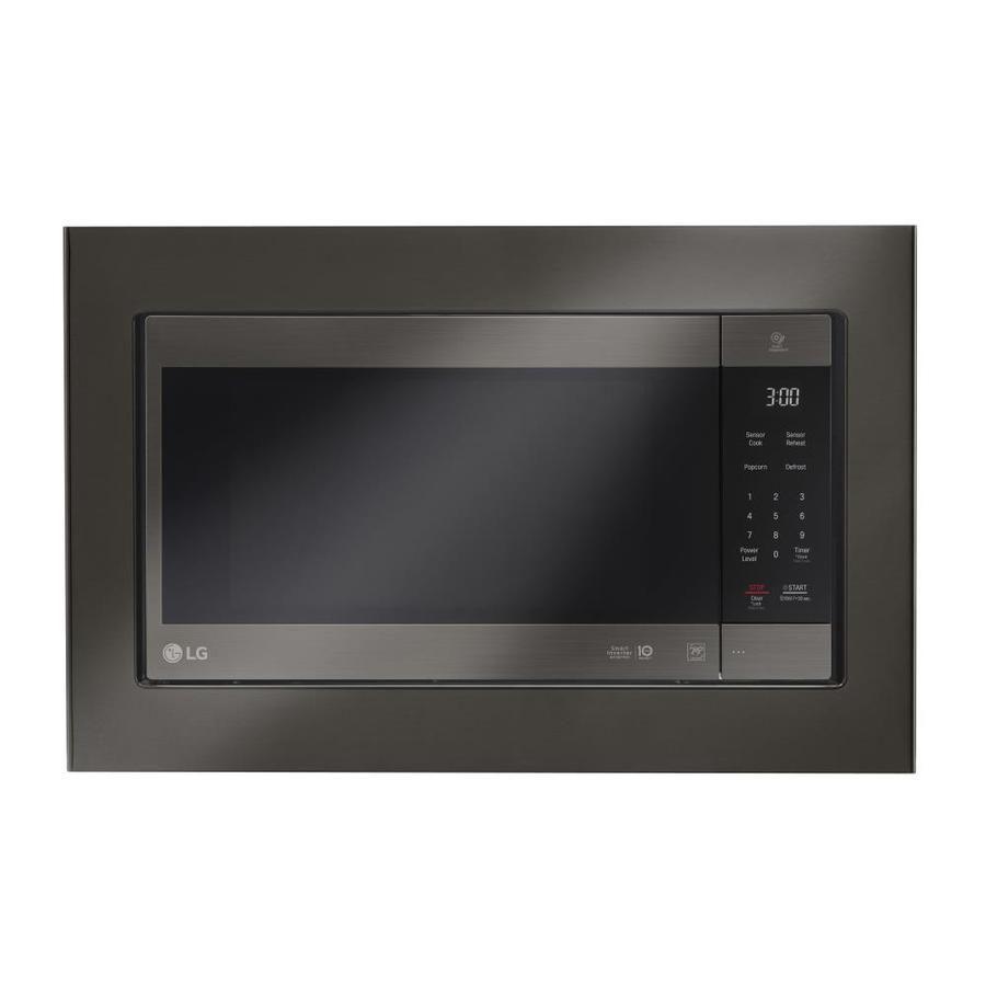 Lg Countertop Microwave Trim Kit Black Stainless Steel Mk2030nbd