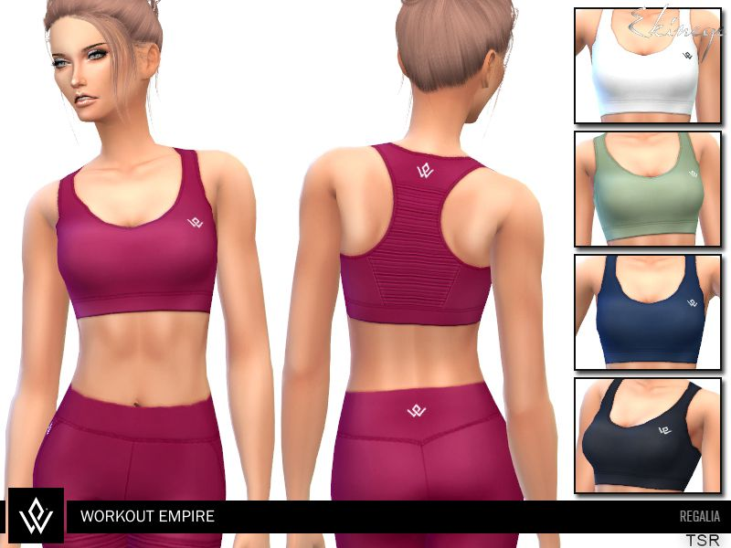 9dbc8f8bbb Workout Empire - Regalia collection item Found in TSR Category 'Sims 4  Female Everyday'