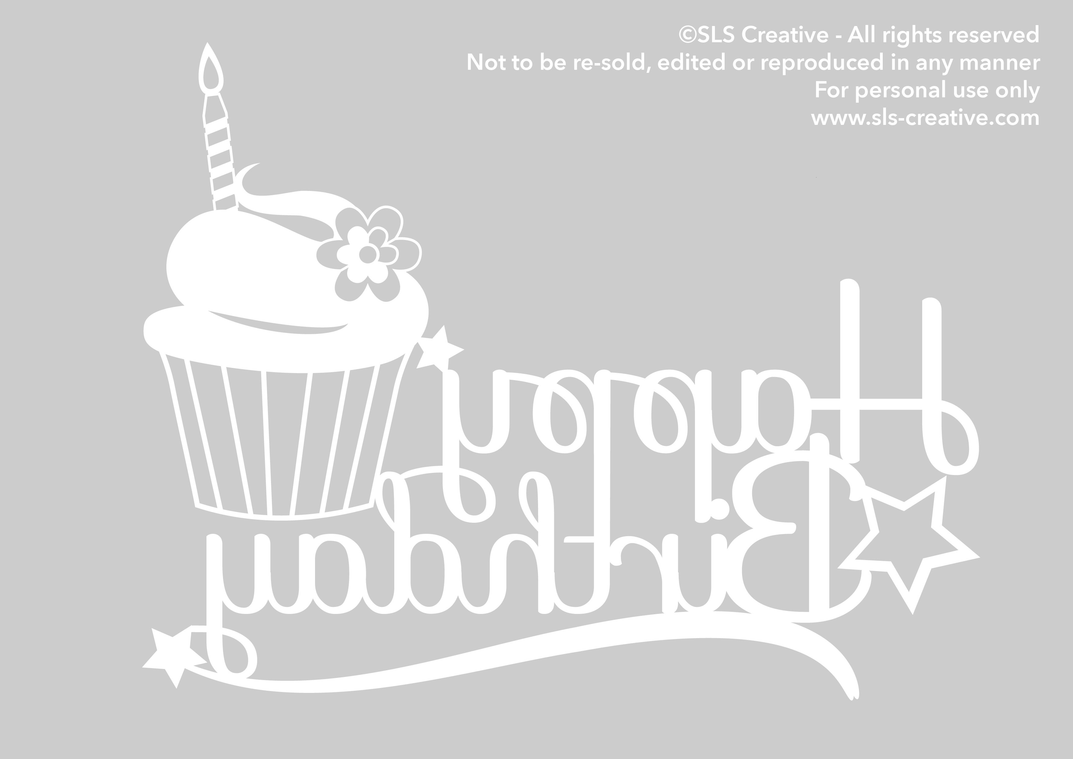 Happy Birthday Paper Template Free Silhoutte Pinterest Paper