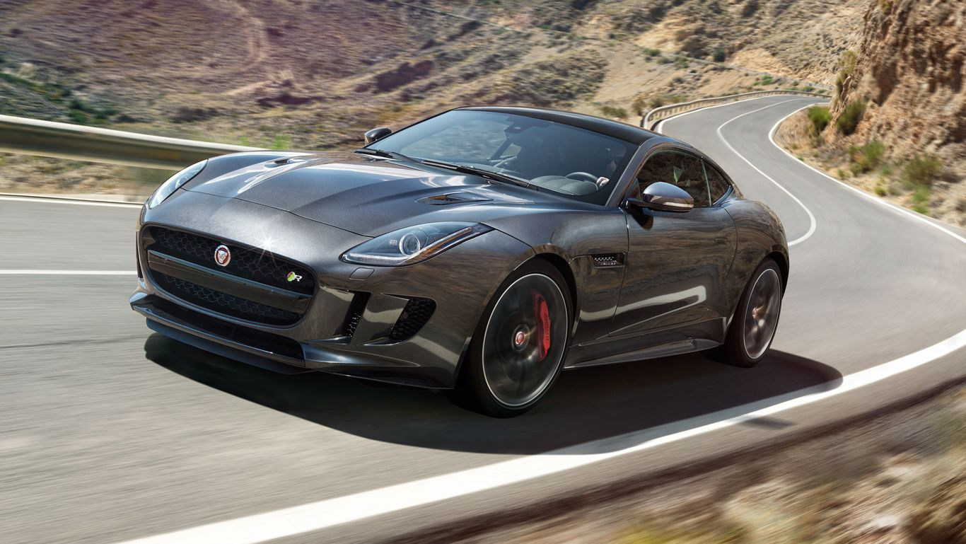 The 2016 f type r coupe awd shown in storm grey if i was into cars pinterest coupe jaguar usa and cars