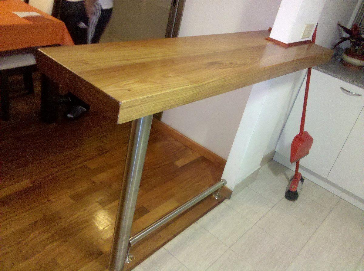 Desayunador de cocina en madera buscar con google casa pinterest - Barra cocina madera ...