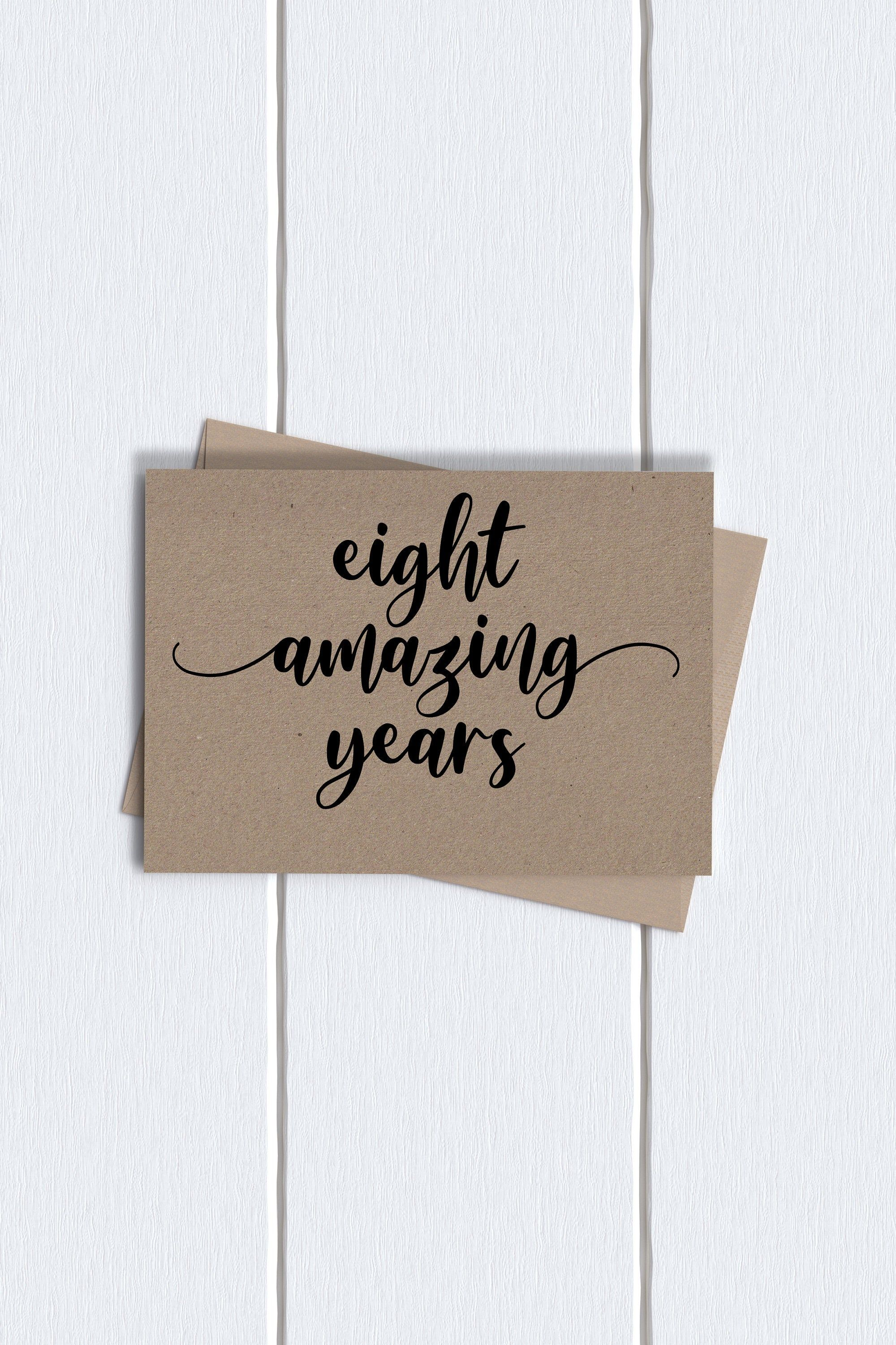 8th Anniversary Quotes : anniversary, quotes, Anniversary, Eight, Cards, Funny, Cards,