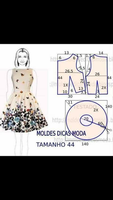 Ziet er heel fraai uit. | Sew | Costura, Moldes de vestidos, Vestidos