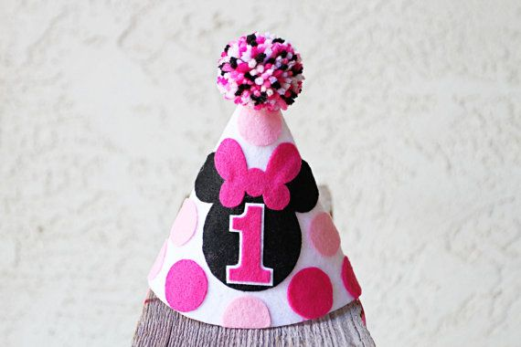 Minnie Mouse 1st Birthday Hat Girls