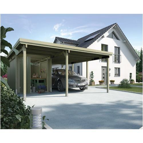 Weka Carport 607 Gr 2 Incl Berging Carport Tuinhuisjes Buitenleven