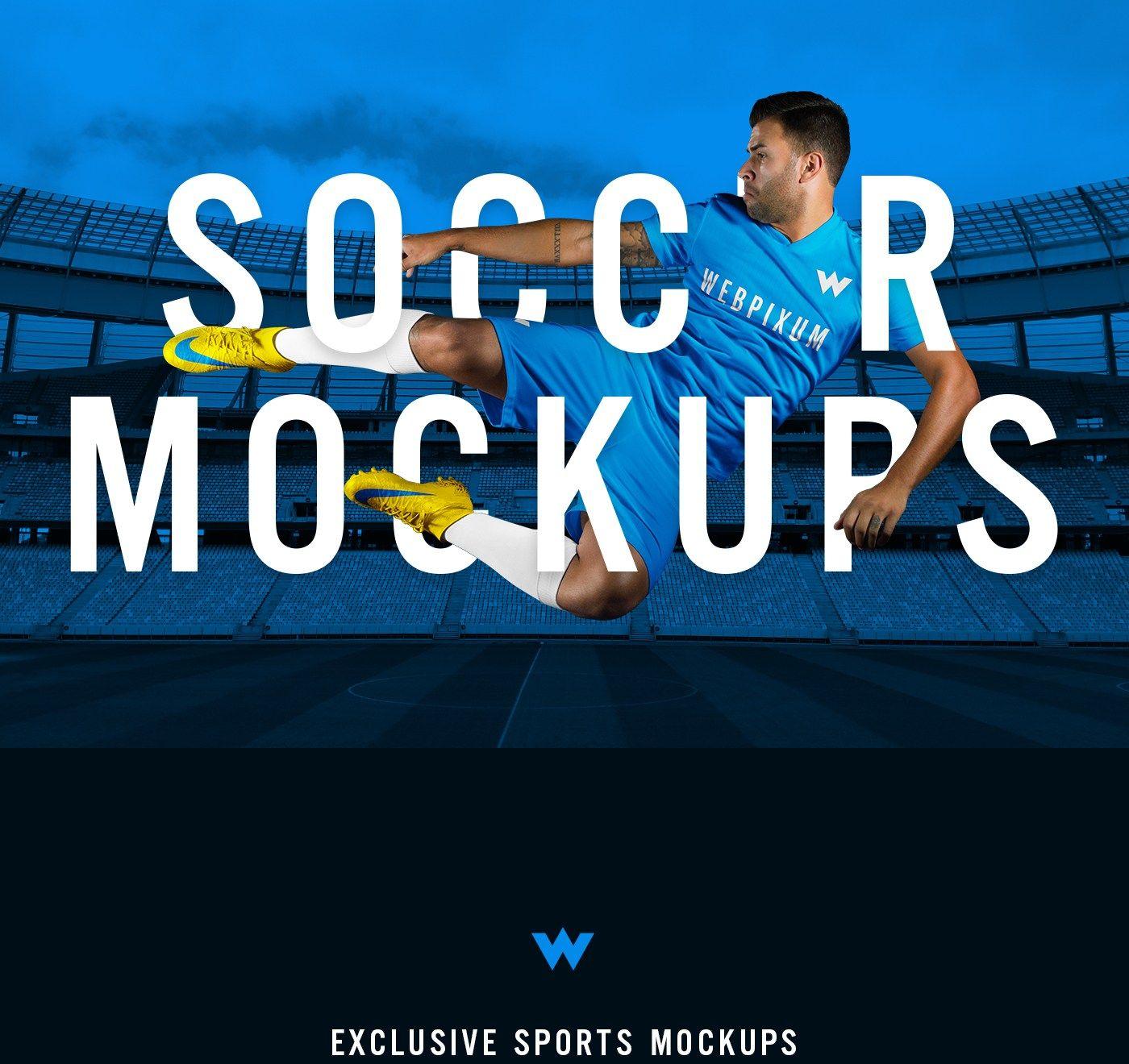 Soccer Kit Mockups Free Psd Creative Juices Pinterest Soccer