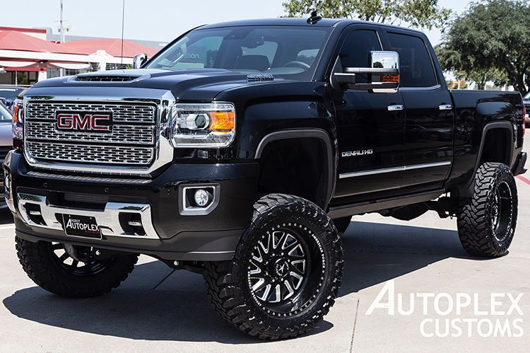 Lewisvilleautoplex On Instagram 2018 Gmc Sierra 2500hd Denali With A 7 Full Throttle Suspension Lift Kit 22 Americ Lifted Trucks Gmc Trucks Diesel Trucks