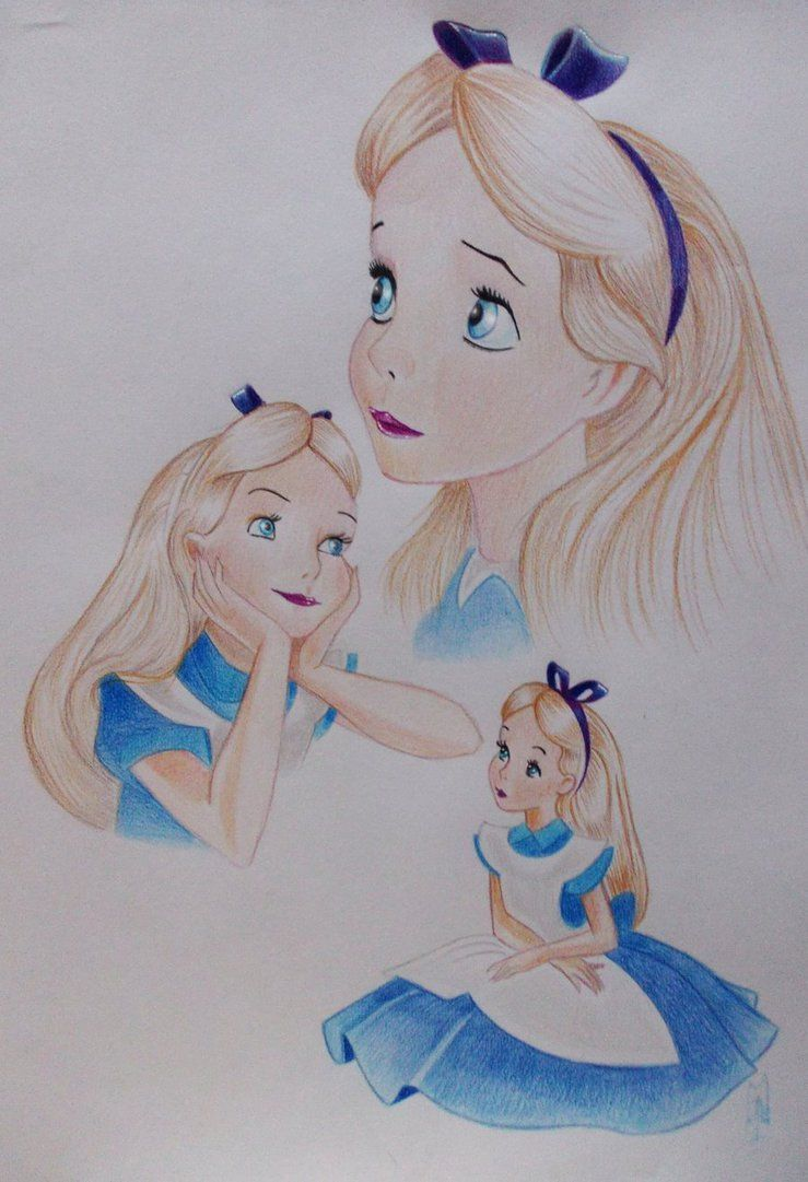 Alice In Wonderland By Artiefishel79 On Deviantart Dibujos