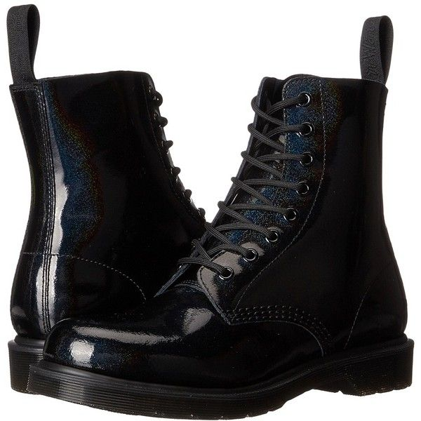 5217066e805a Dr. Martens Pascal 8-Eye Boot (Black Petrol) Women s Lace-up Boots ( 120) ❤  liked on Polyvore featuring shoes