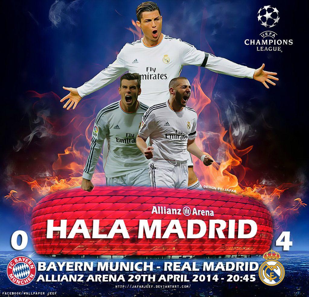 Bayern Munich Real Madrid 2014 By Jafarjeef Deviantart Com On Deviantart Real Madrid 2014 Real Madrid Madrid