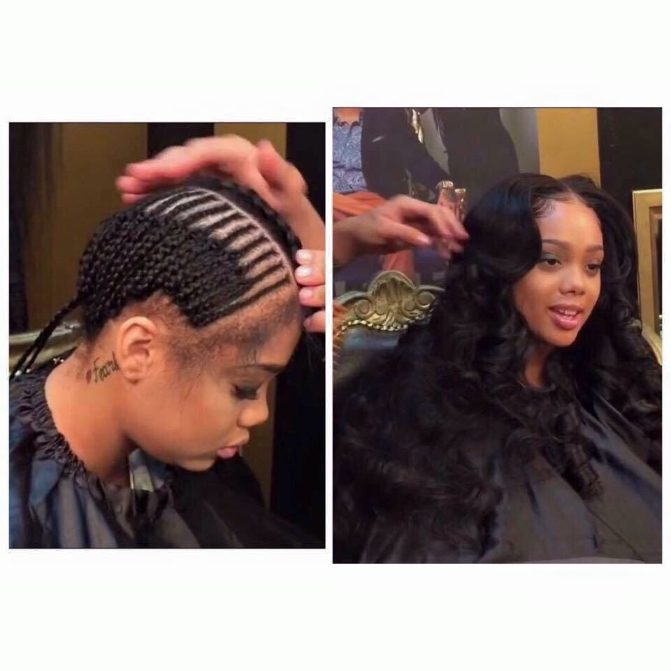 Middle Part Sew In Hair Styles Natural Hair Styles Gorgeous Hair