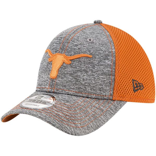 quality design fdbef a7b09 Texas Longhorns New Era Shadow Turn 9FORTY Adjustable Hat - Heathered Gray Texas  Orange -  22.99