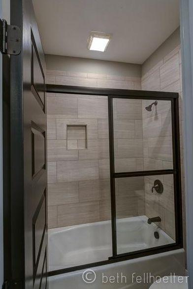 12 x 24 tile on bathtub shower surround