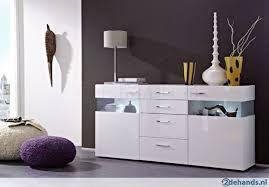Afbeeldingsresultaat voor wit hoogglans dressoir living room