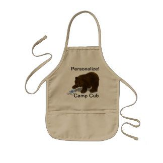"Personalized ""Camp Cub"" Kid's Apron"